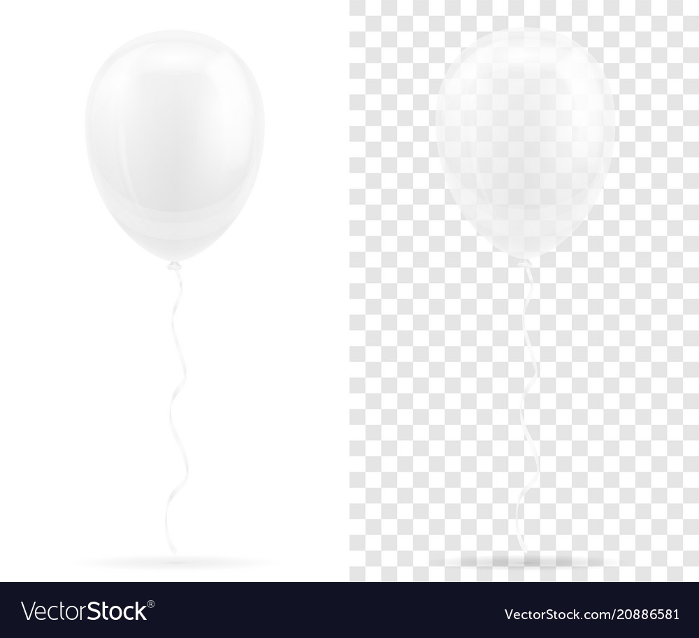celebratory transparent white balloons