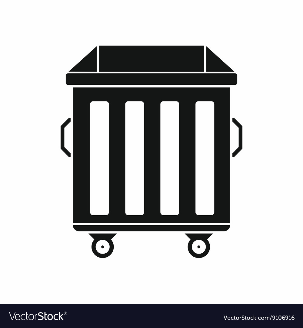 dumpster on wheels icon