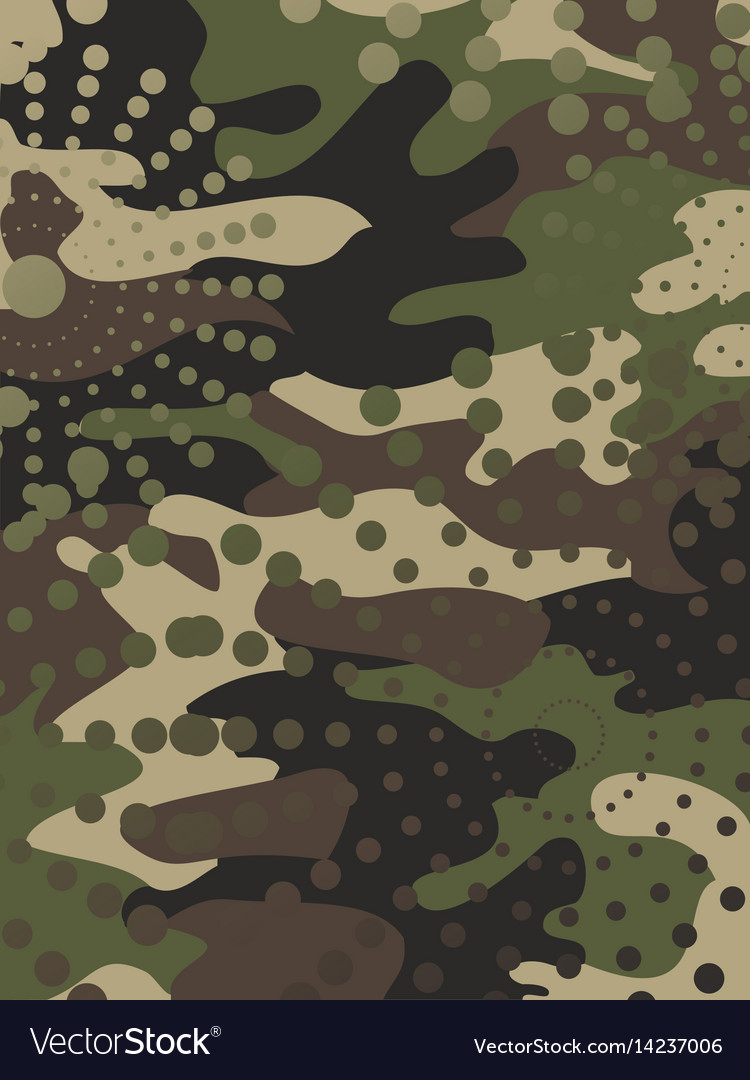 camouflage and halftone pattern