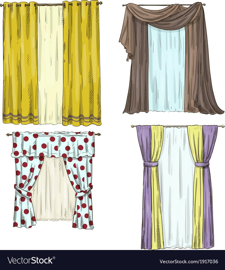 set of curtains interior