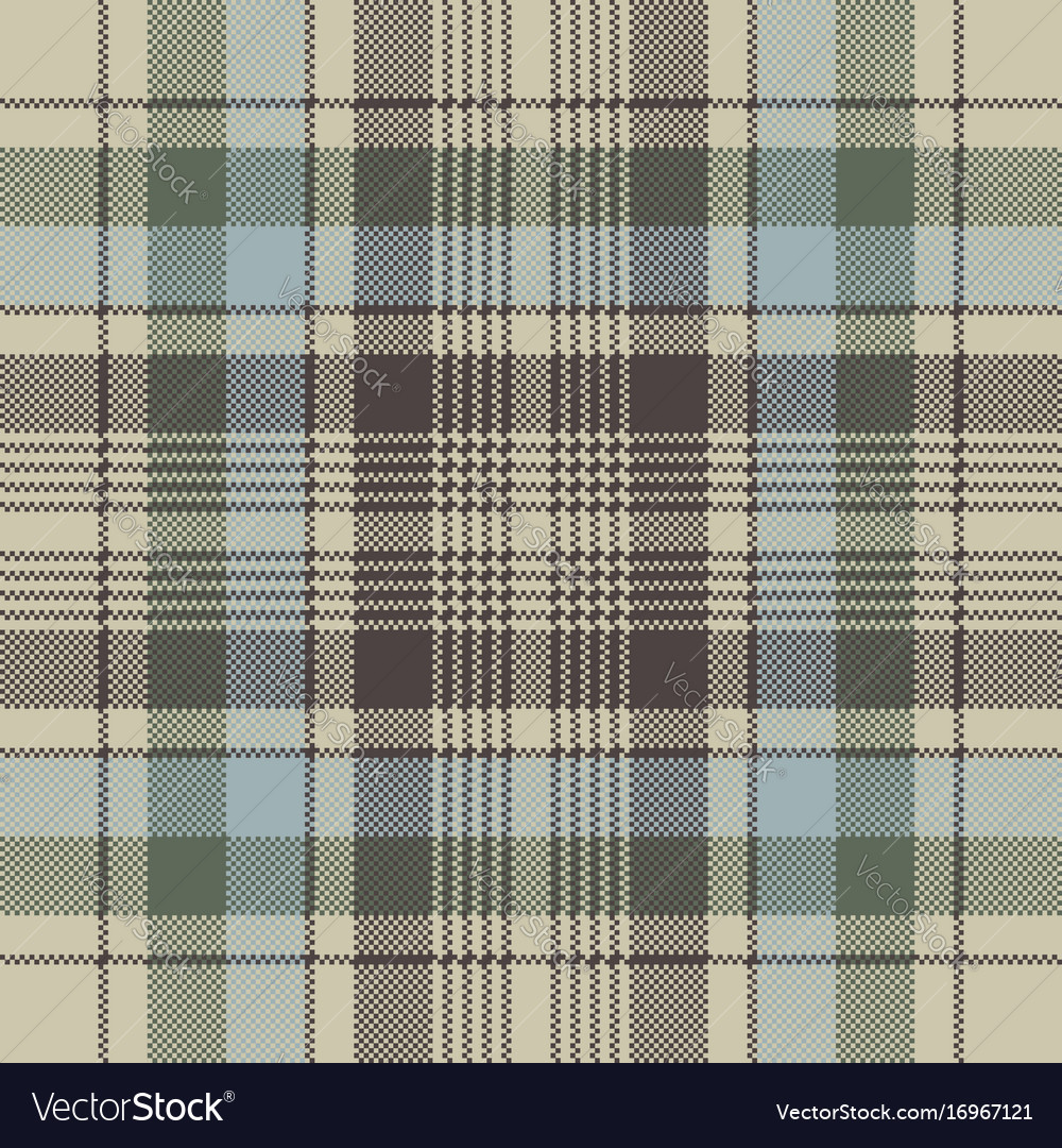 Plaid check pixel seamless pattern Royalty Free Vector Image