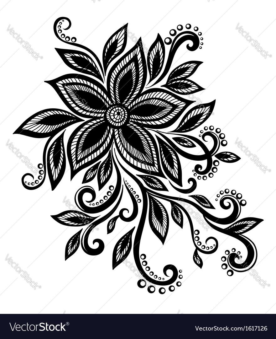 black white flower lace