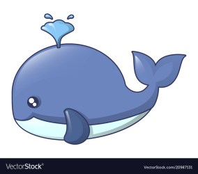 Blue whale icon cartoon style Royalty Free Vector Image
