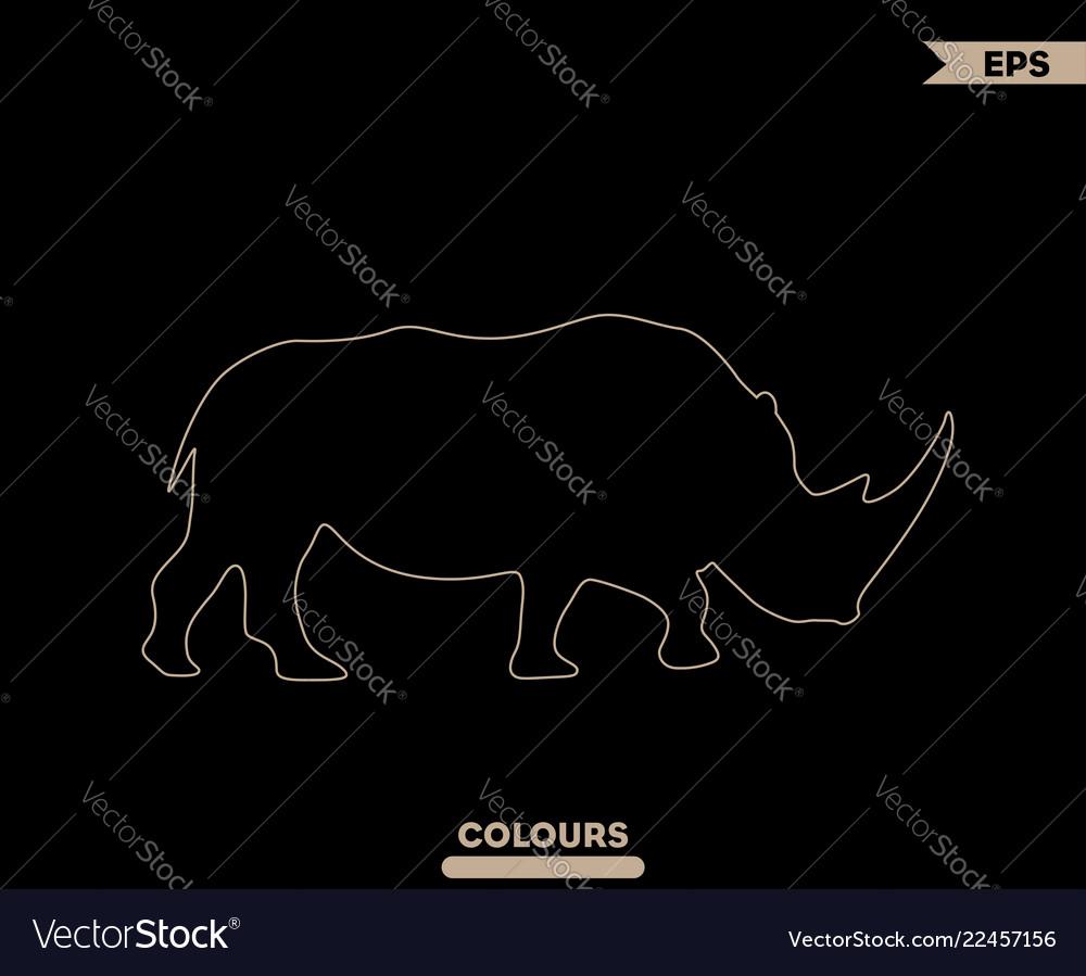 hight resolution of rhino head diagram