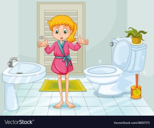 Cleaning Bathroom Cartoon Images Image of Bathroom and Closet