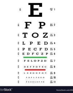 also eye test chart letters vision exam vector image rh vectorstock