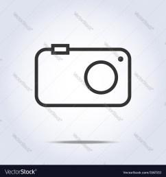 simple camera icon gray color vector image [ 1000 x 1080 Pixel ]