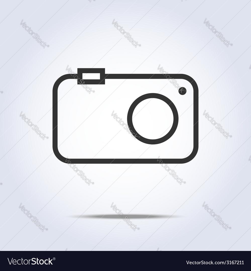 medium resolution of simple camera icon gray color vector image