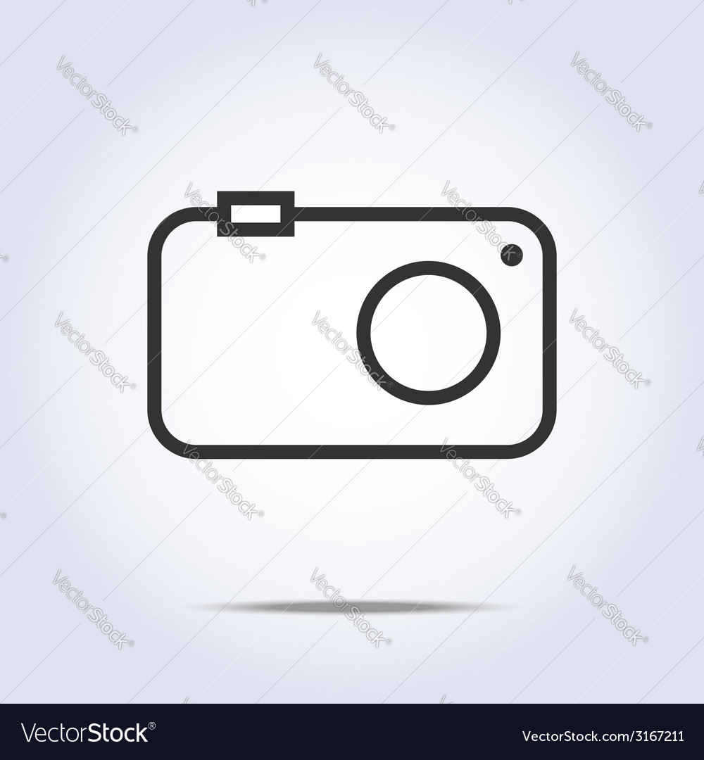 hight resolution of simple camera icon gray color vector image