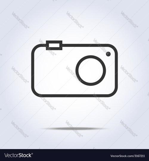 small resolution of simple camera icon gray color vector image