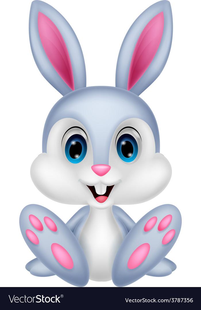 Cute Baby Rabbit Cartoon Royalty Free Vector Image