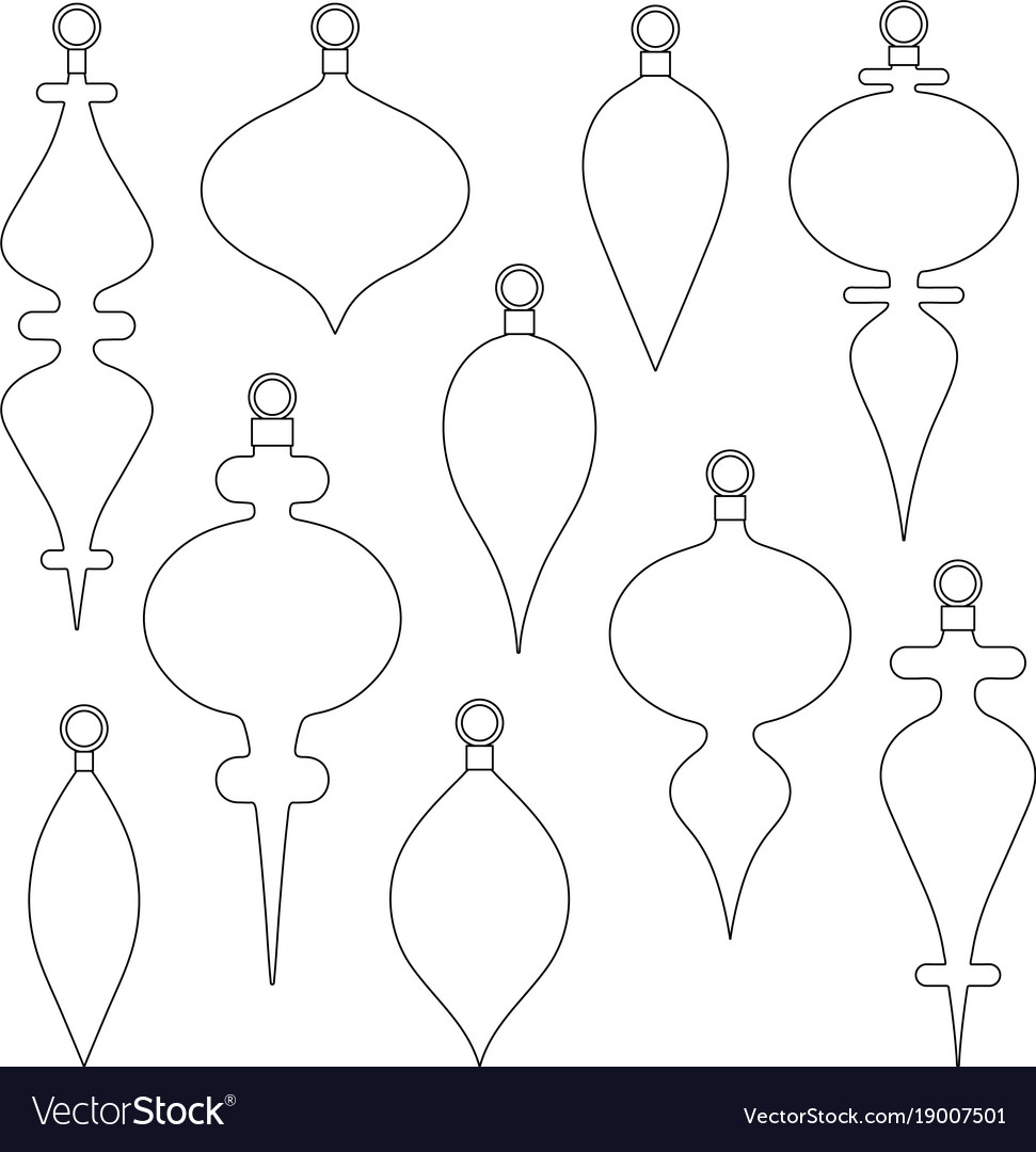 christmas ornament outline shapes