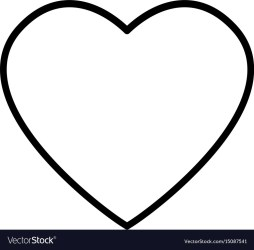 heart drawing valentine passion celebration vector vectorstock royalty