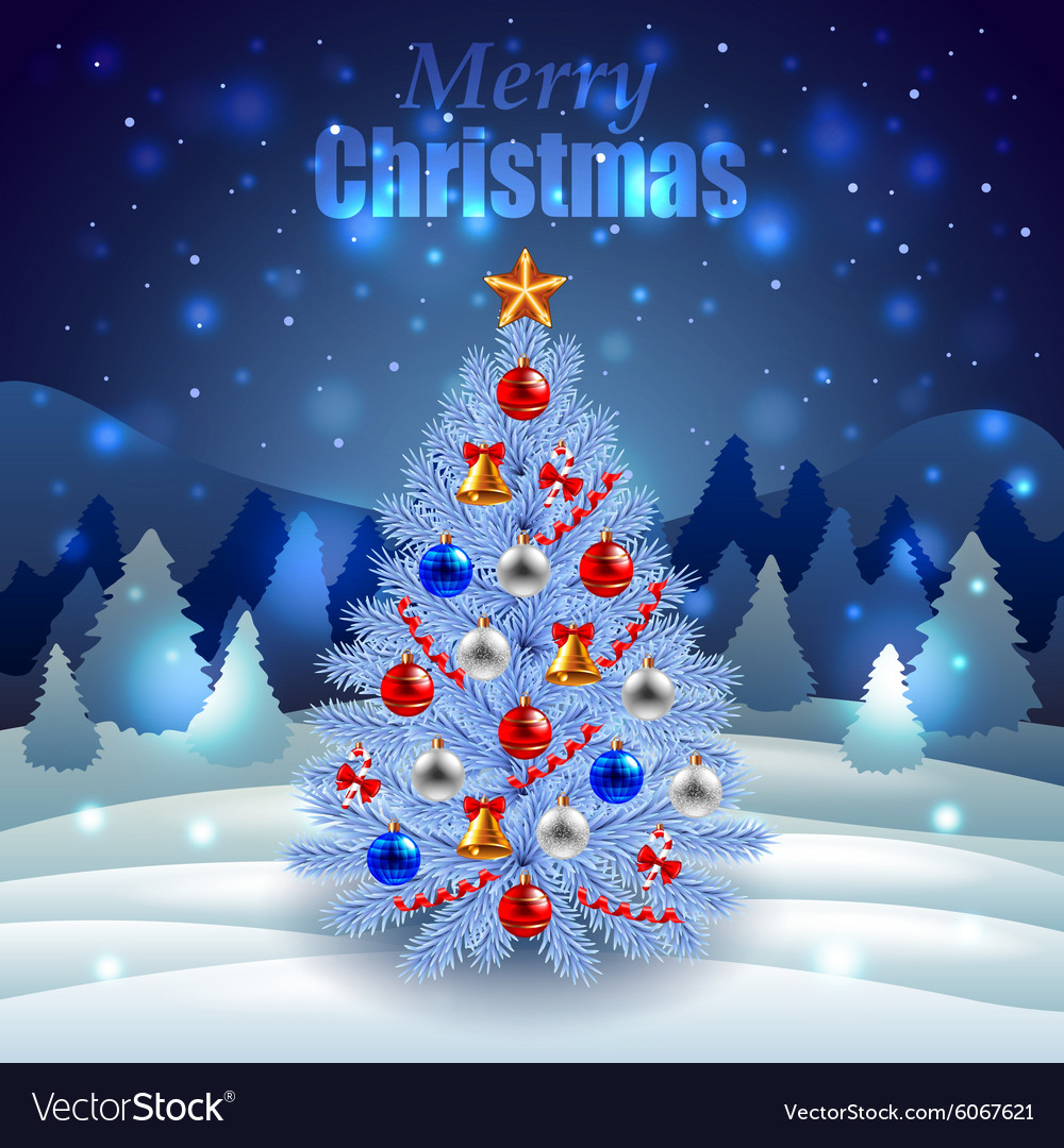 decorated christmas tree on