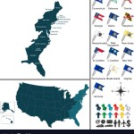 Map Of East Coast Of The United States Royalty Free Vector