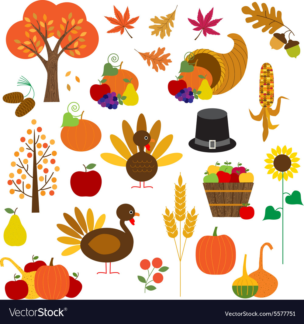hight resolution of thanksgiving clipart vector image