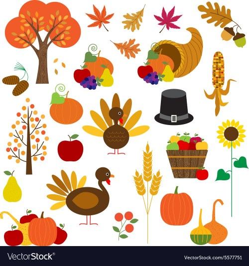small resolution of thanksgiving clipart vector image