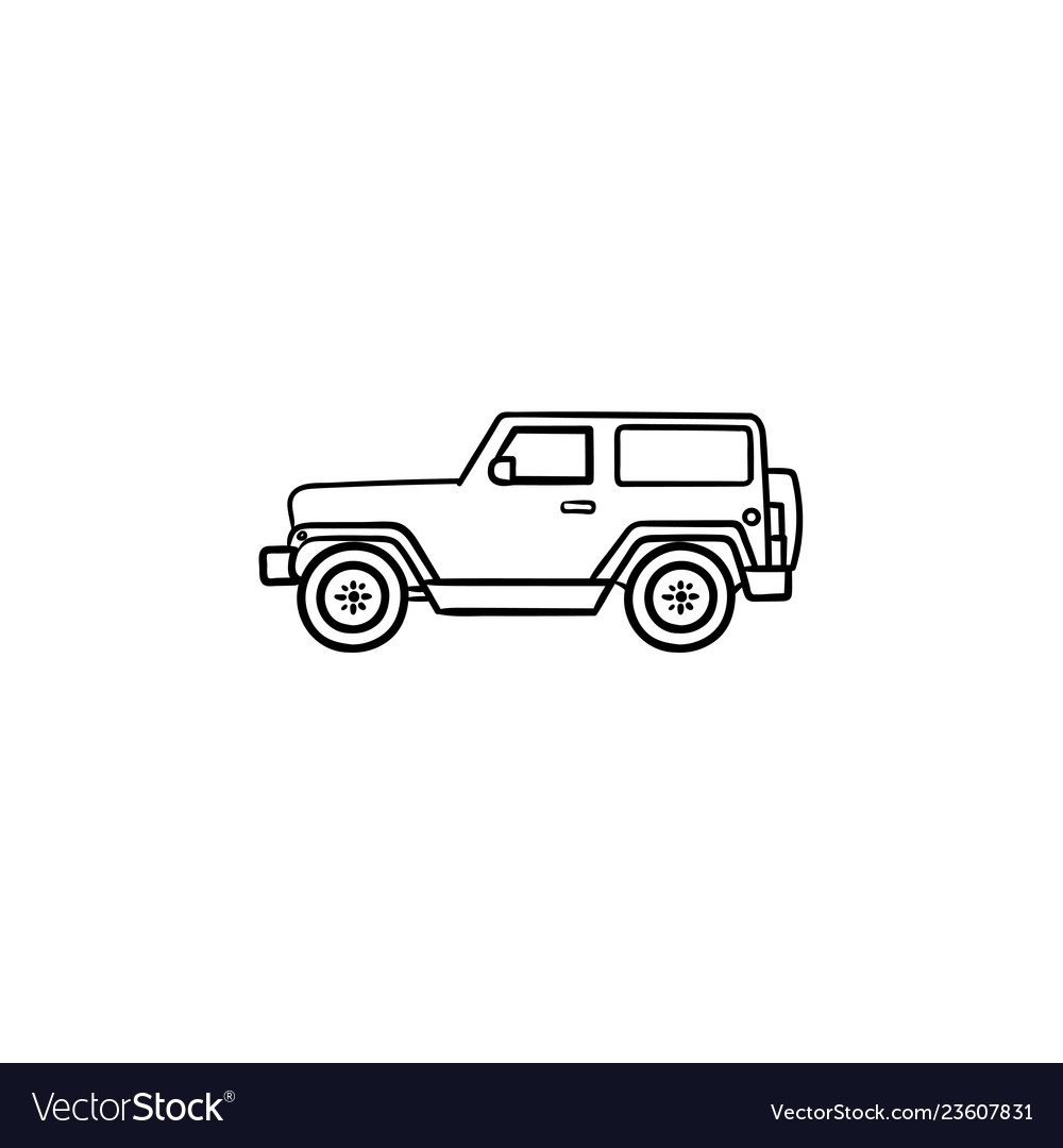 jeep hand drawn outline