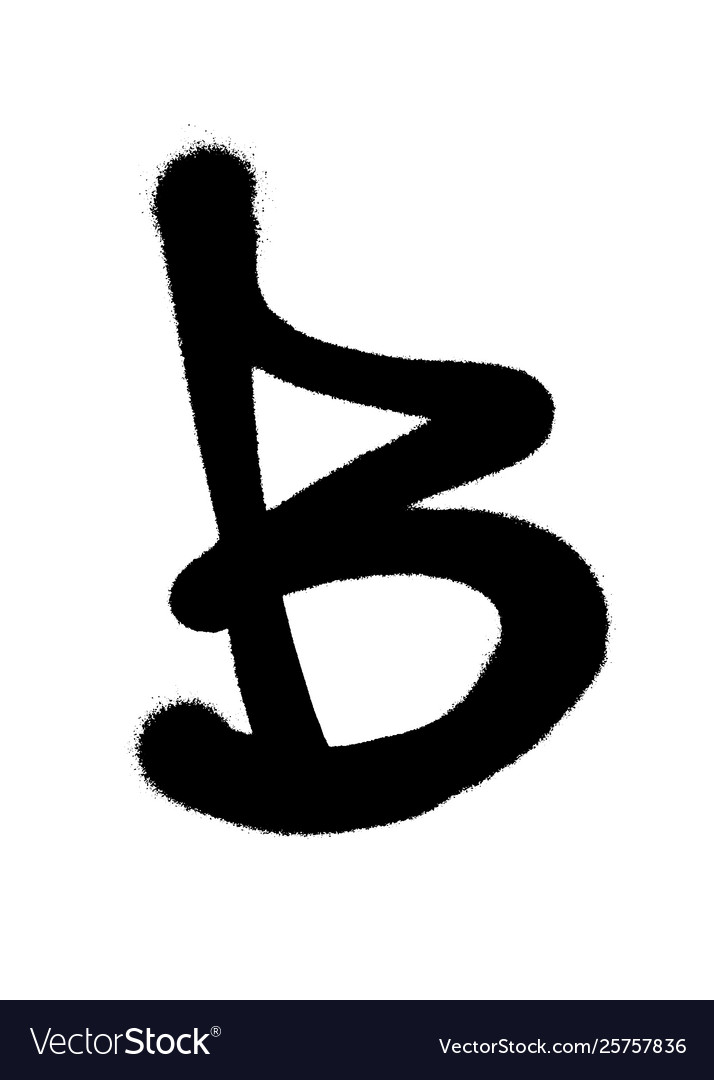 Letter B In Different Fonts : letter, different, fonts, Graffiti, Style, Letter, Spray, Black