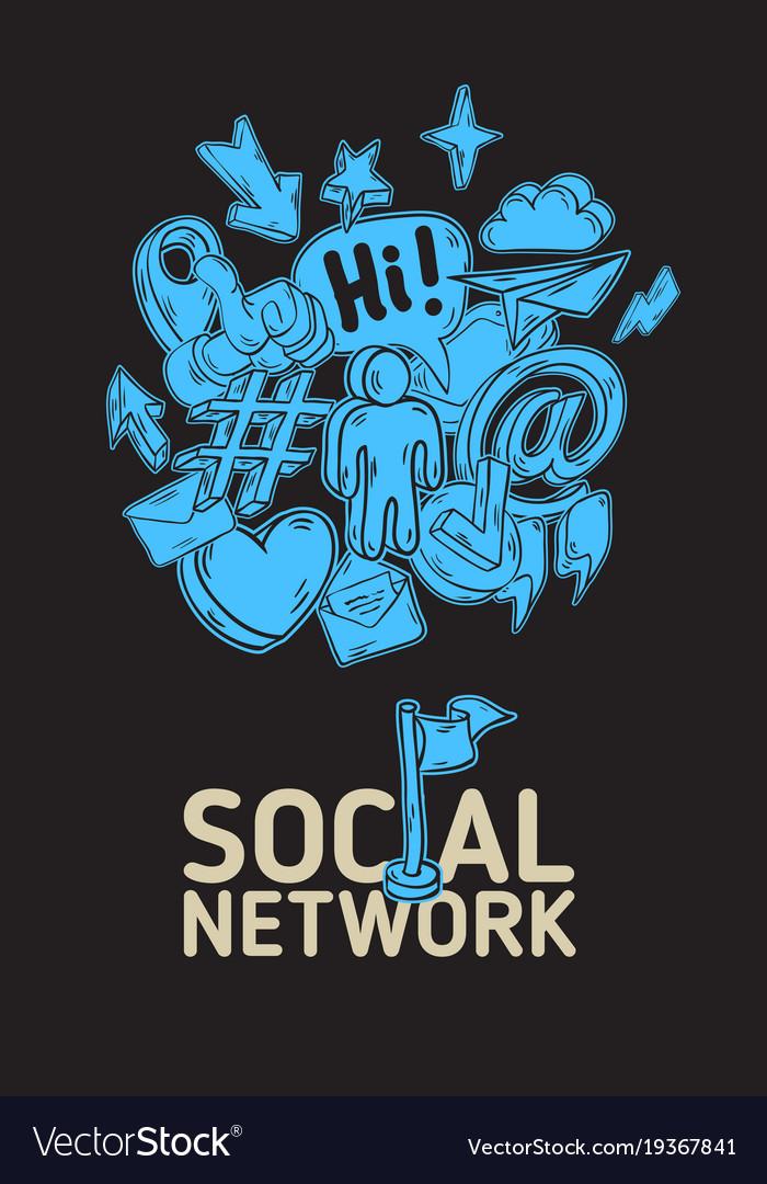 social network poster design