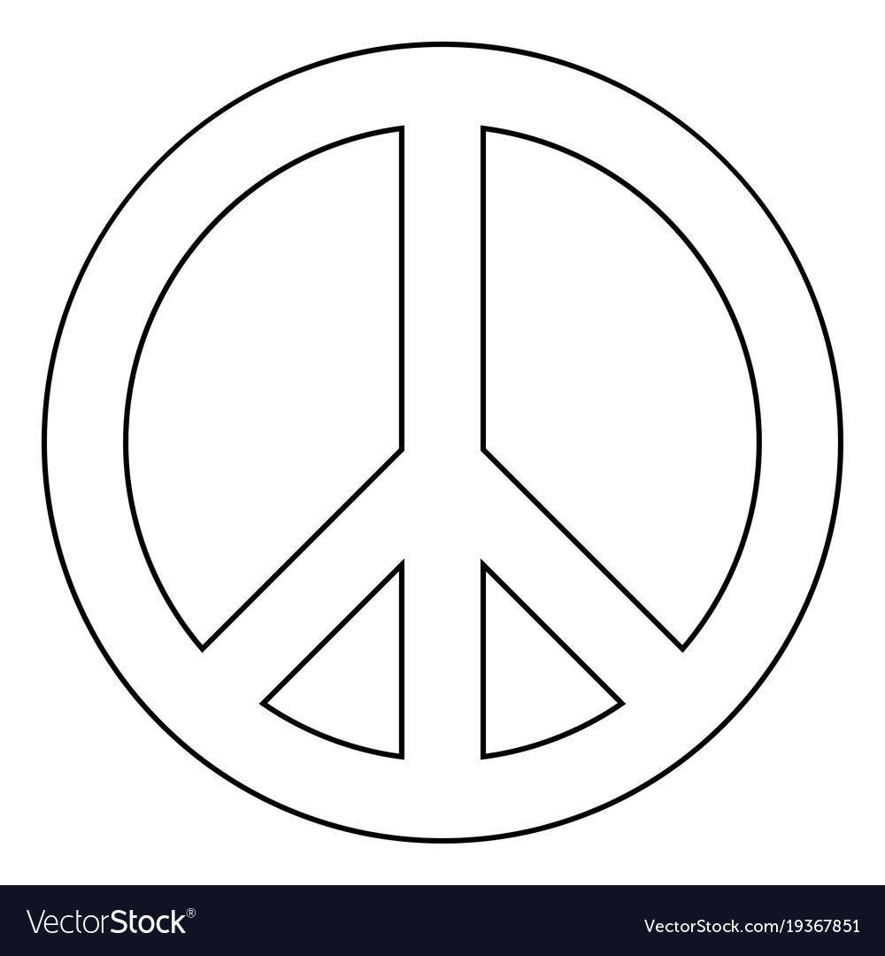 world peace sign symbol