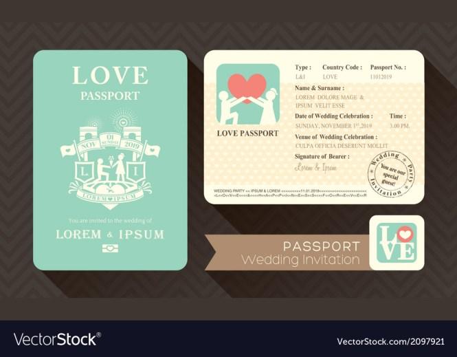 Passport Wedding Invitation Card Design