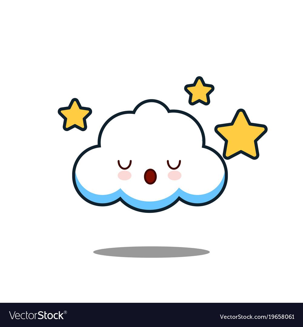 cute cloud kawaii face