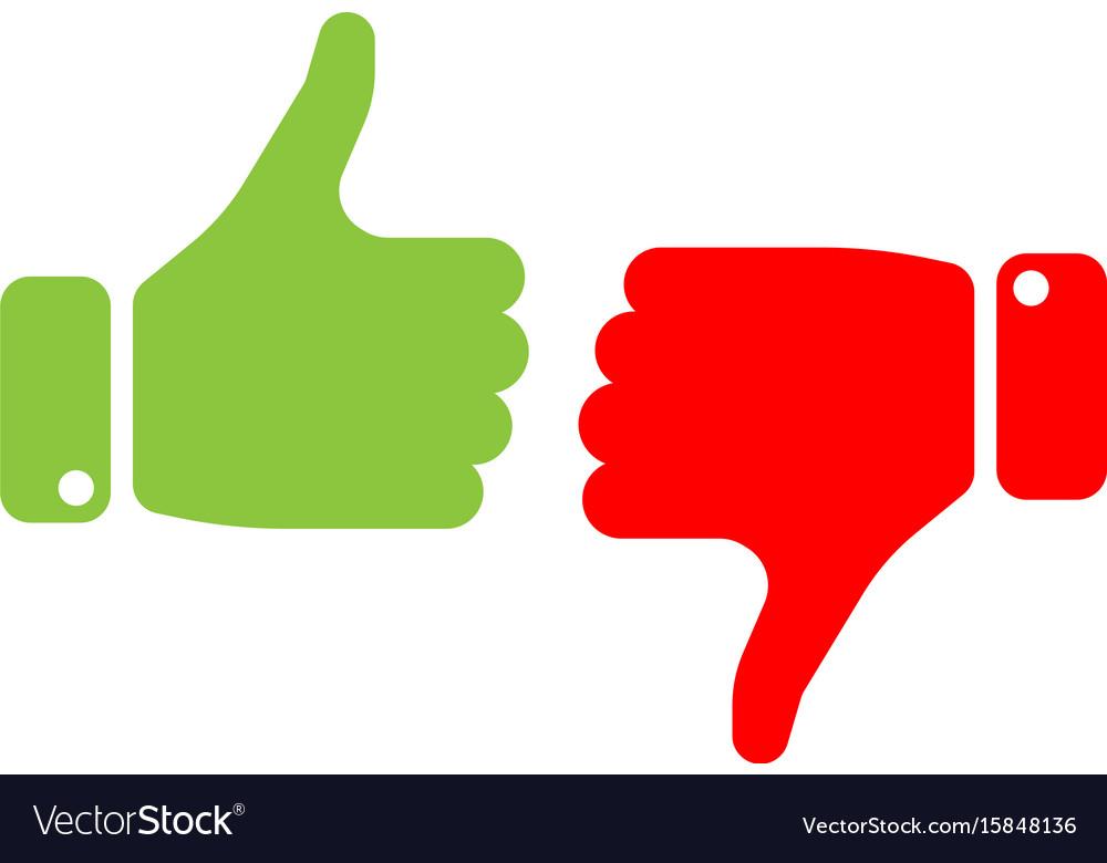 vote thumbs up icon
