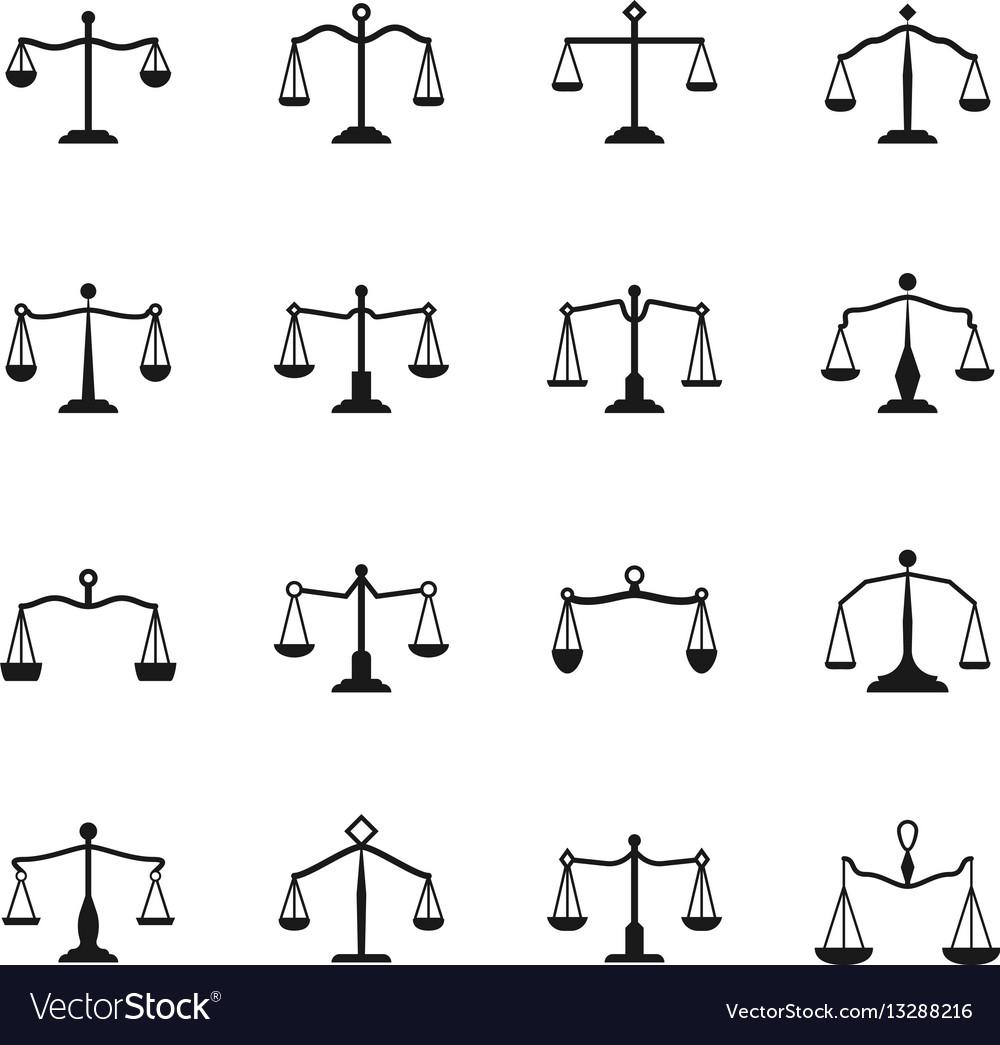 scales icons balance antique