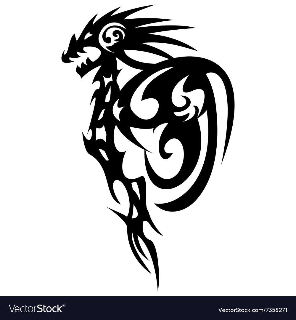 dragon tattoo design vintage