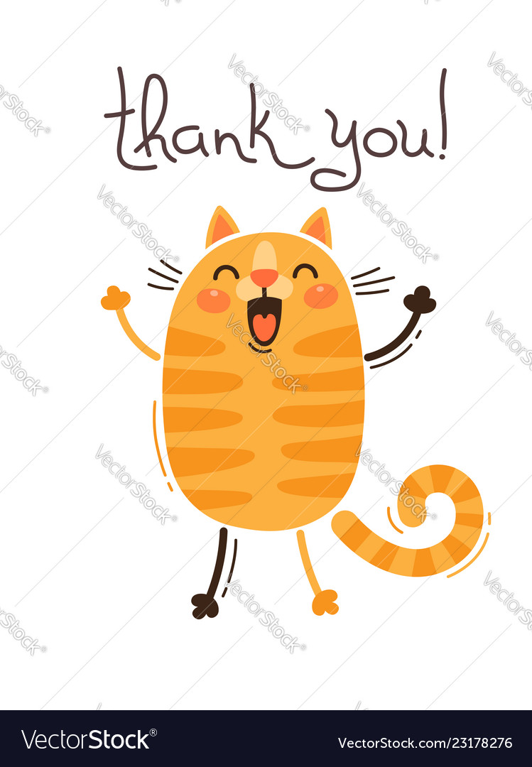 funny cat says thank