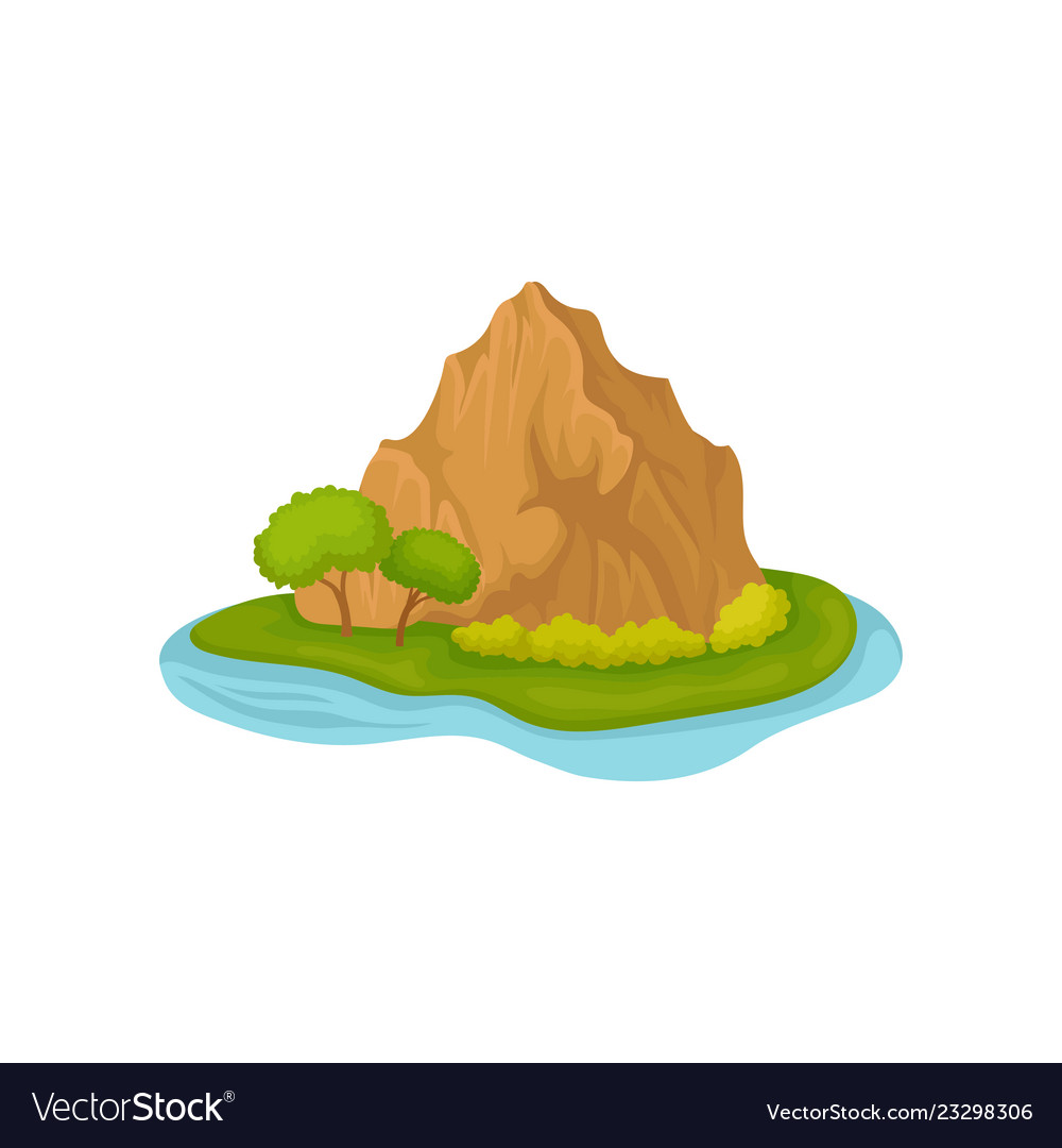 brown rocky mountain and