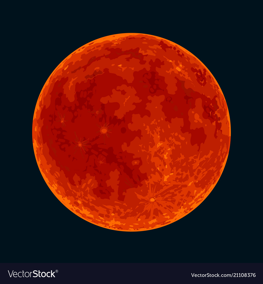 red blood full moon