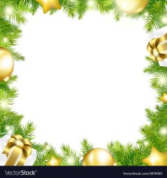 christmas background with border vector image [ 1000 x 1080 Pixel ]