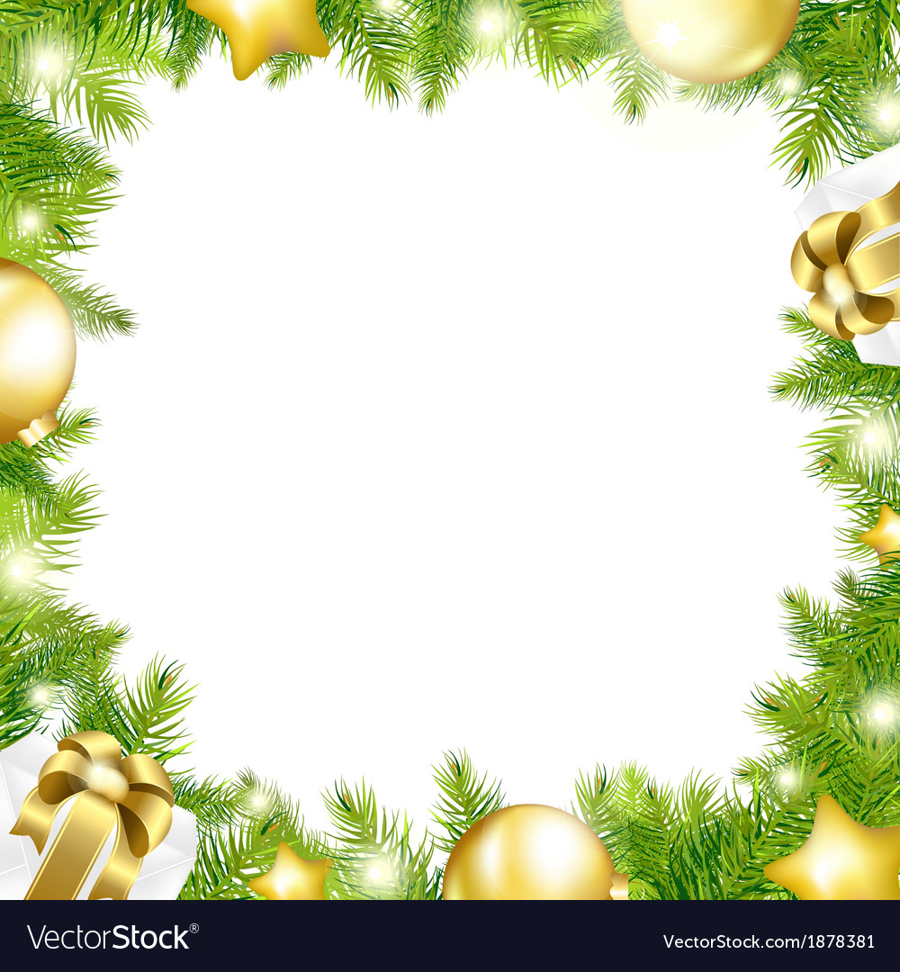 medium resolution of christmas background with border vector image