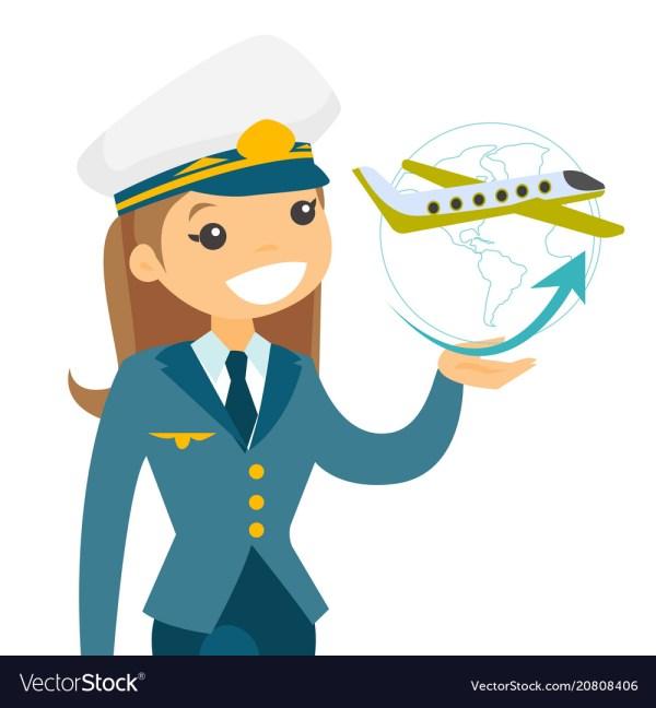 c5b8c96d Airplane Captain In Pilot Hat Royalty Free Vector