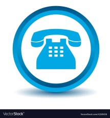 Blue Telephone Icon Royalty Free Vector - Vectorstock