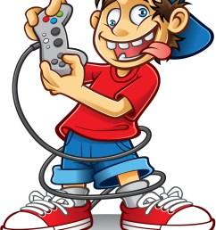 crazy game boy vector image [ 730 x 1080 Pixel ]