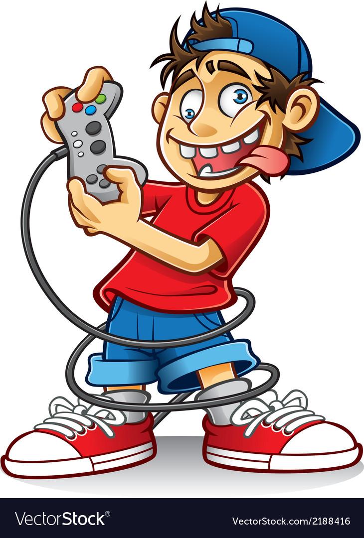 medium resolution of crazy game boy vector image