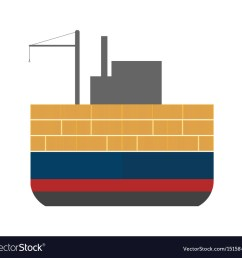 sea freight icon with cargo ship vector image [ 1000 x 948 Pixel ]