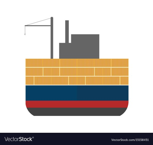 small resolution of sea freight icon with cargo ship vector image