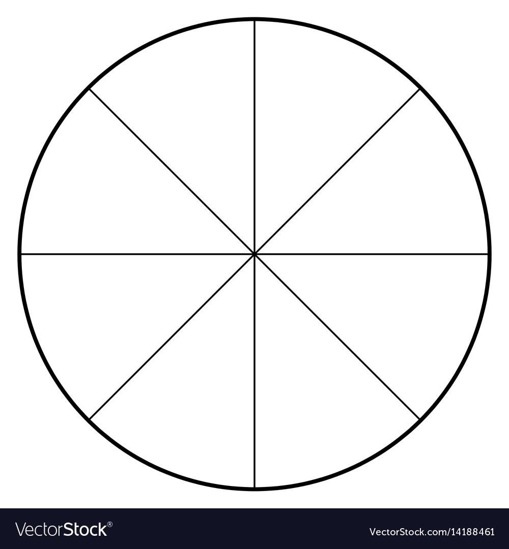 medium resolution of blank polar graph paper protractor pie chart vector image blank heart diagram blank pie diagram