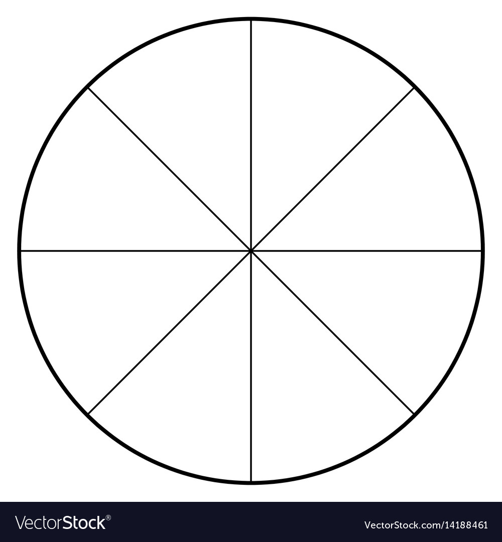 hight resolution of blank polar graph paper protractor pie chart vector image blank heart diagram blank pie diagram