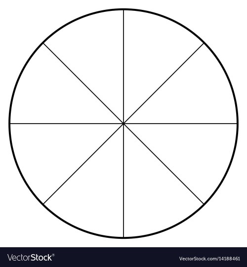 small resolution of blank polar graph paper protractor pie chart vector image blank heart diagram blank pie diagram