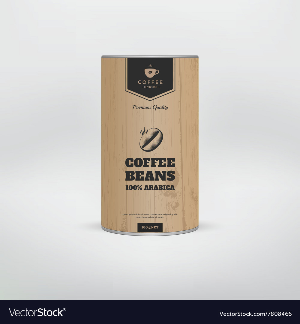 Download Mockup coffee packaging Royalty Free Vector Image