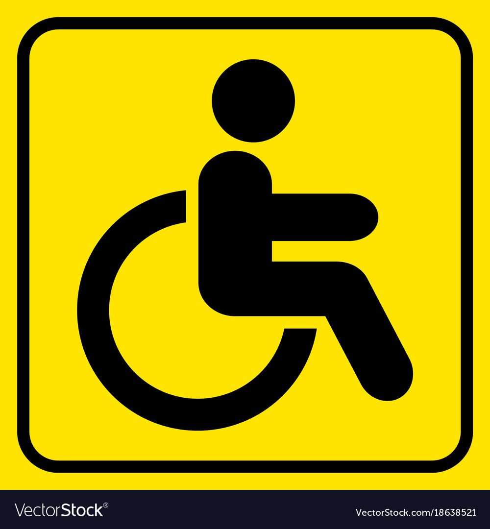 yellow wheelchair organza wedding chair covers disabled warning sign man in black vector image
