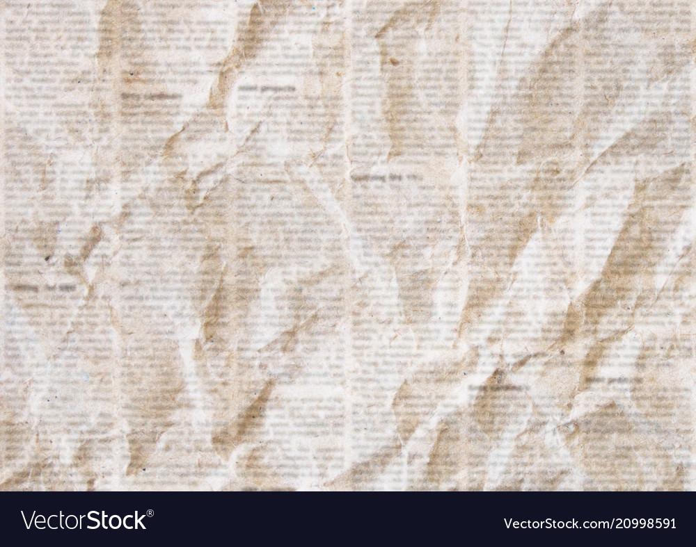 old crumpled newspaper texture
