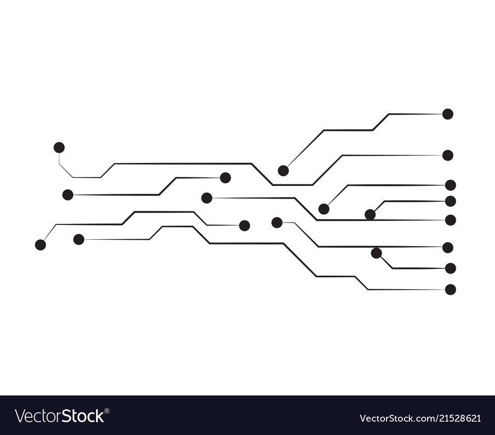 hight resolution of circuit template line royalty free vector image