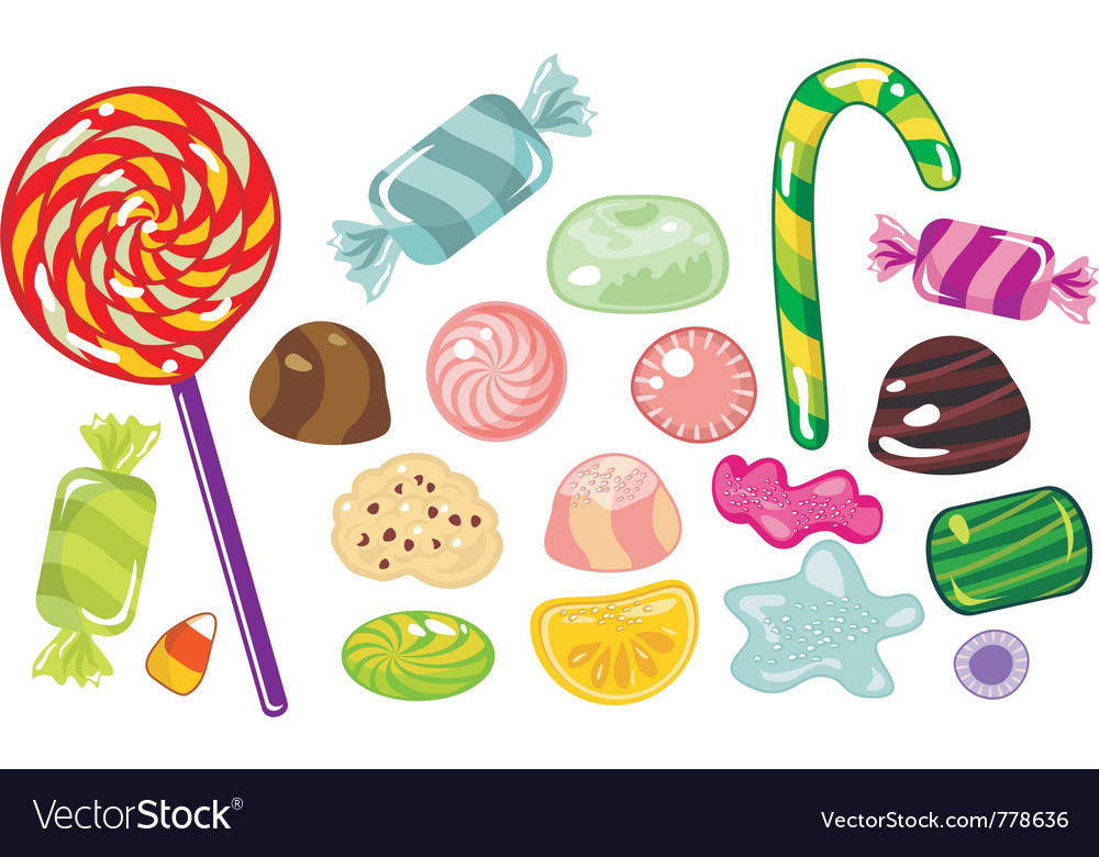 various sweets and candies