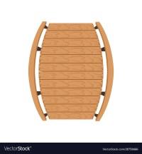 Wooden bridge landscape design element top view Vector Image